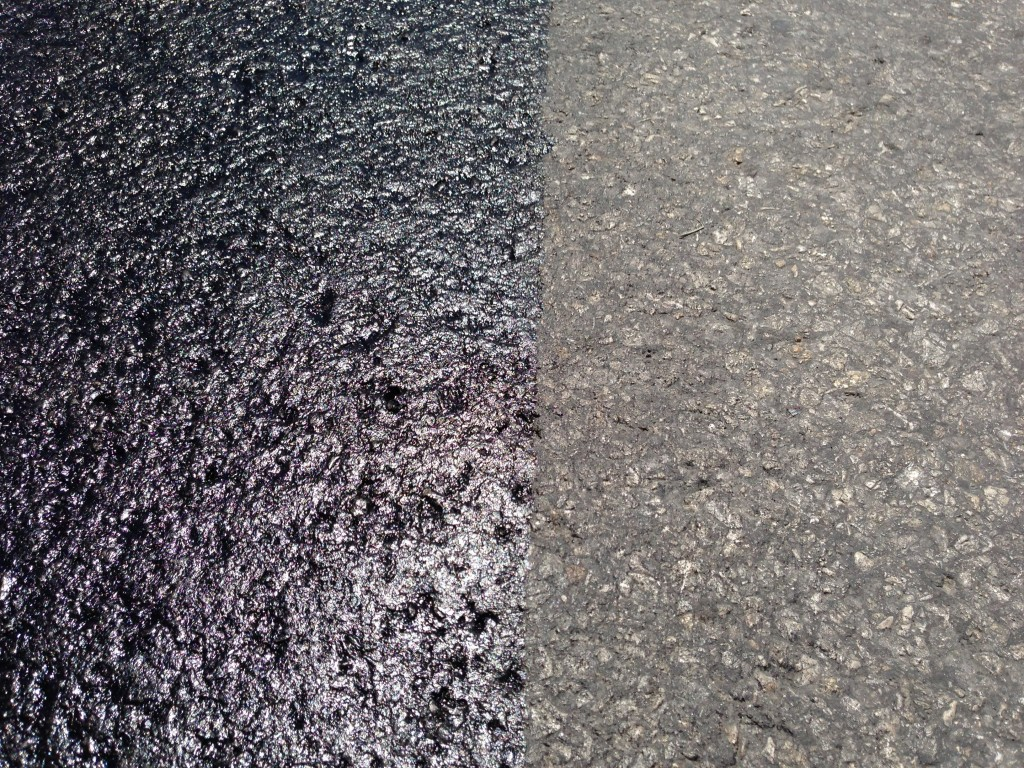TF6 - Terra Fog Applied Old Asphalt - Side by Side